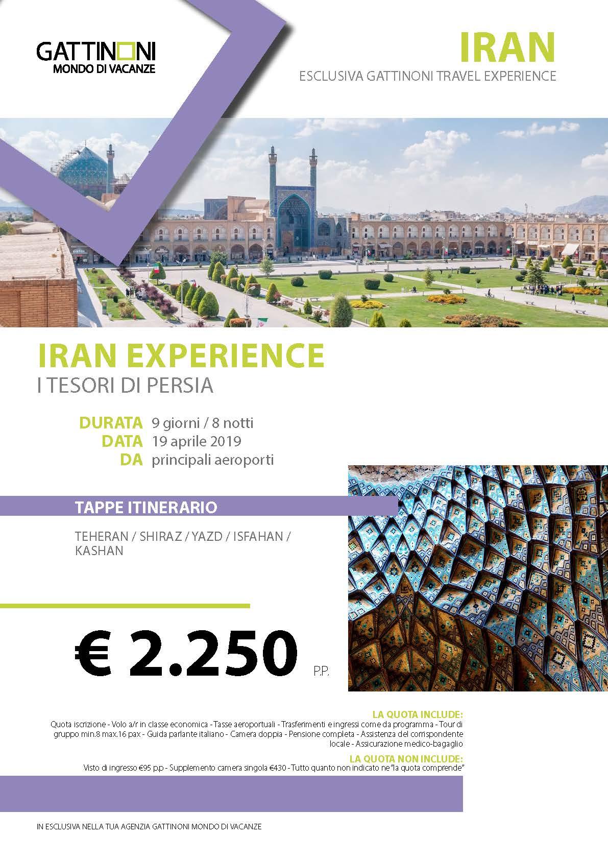 PASQUA IN IRAN – TESORI DI PERSIA