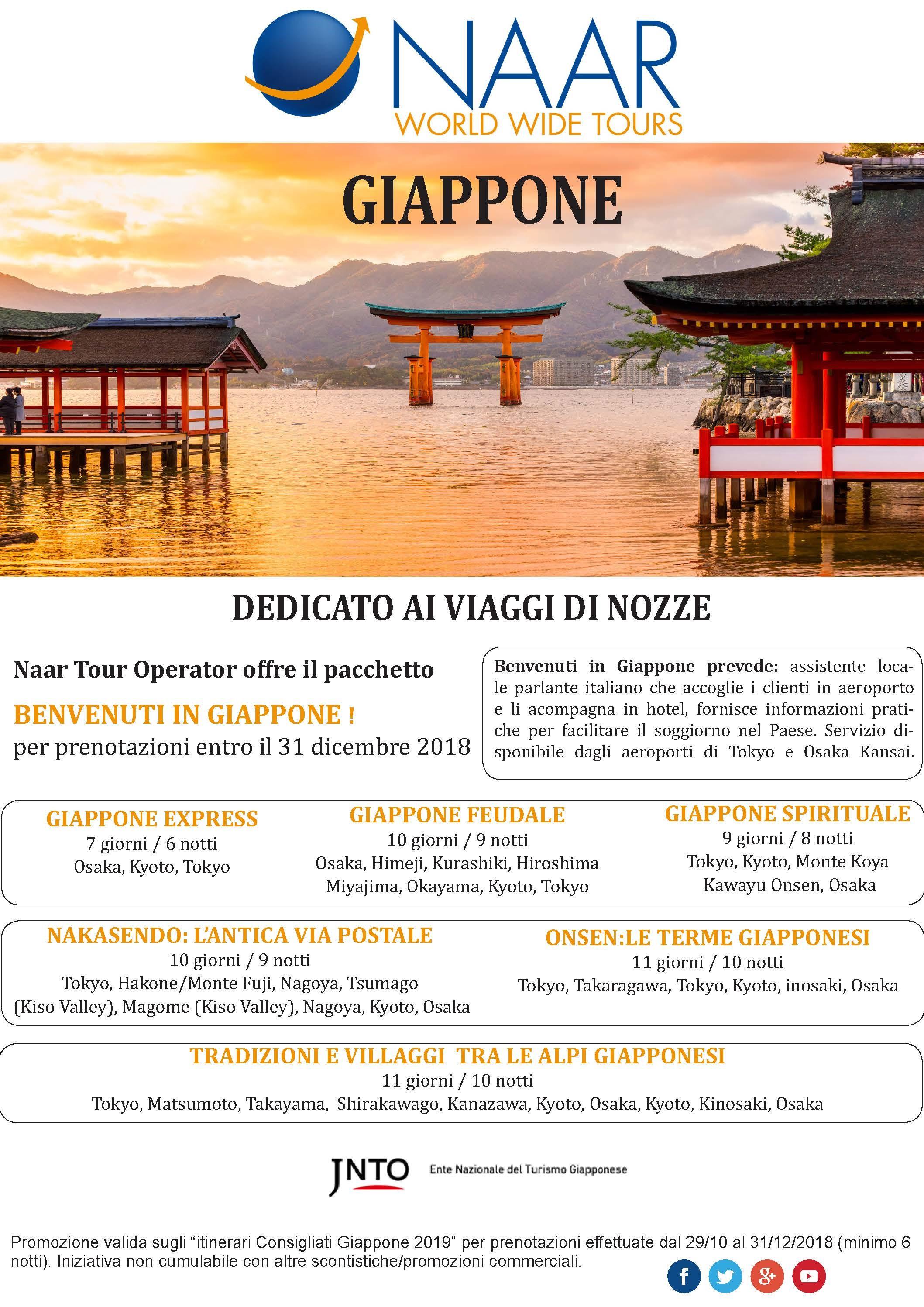 GIAPPONE- VIAGGIO NOZZE