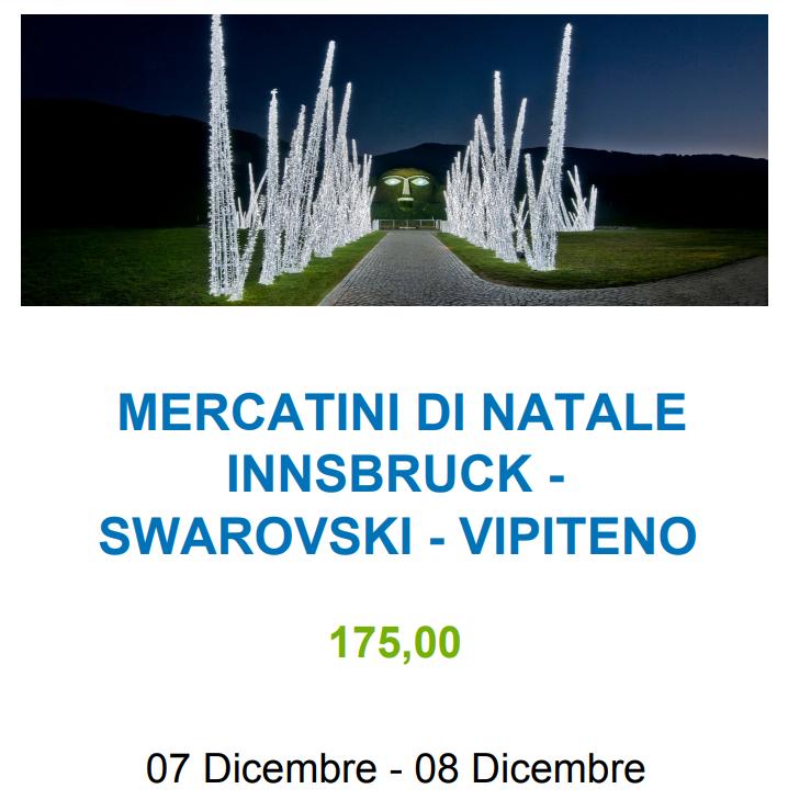 MERCATINI INNSBRUCK-Swarowski-VIPITENO